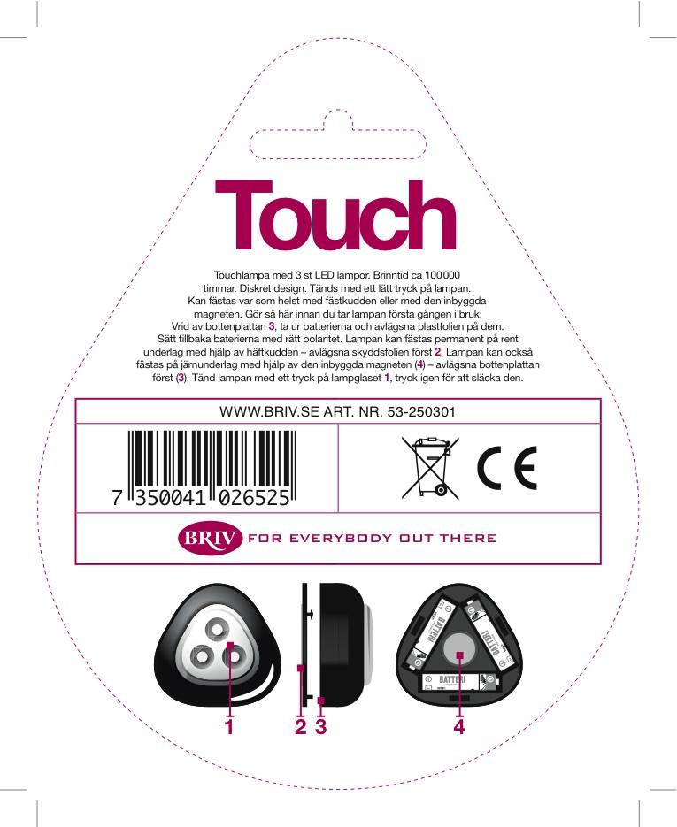 Touchlampa baksida