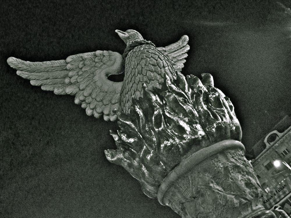 Turul fågeln i Debrecen. En, för mig nationalistisk och fascistisk symbol.